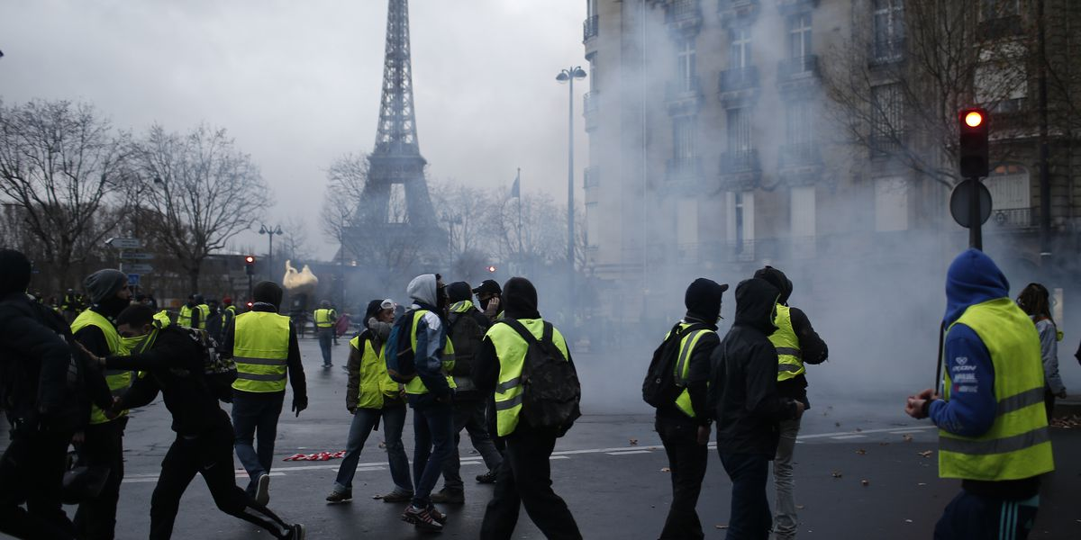 The Latest: France: 135 hurt in protests; 1,000 detained