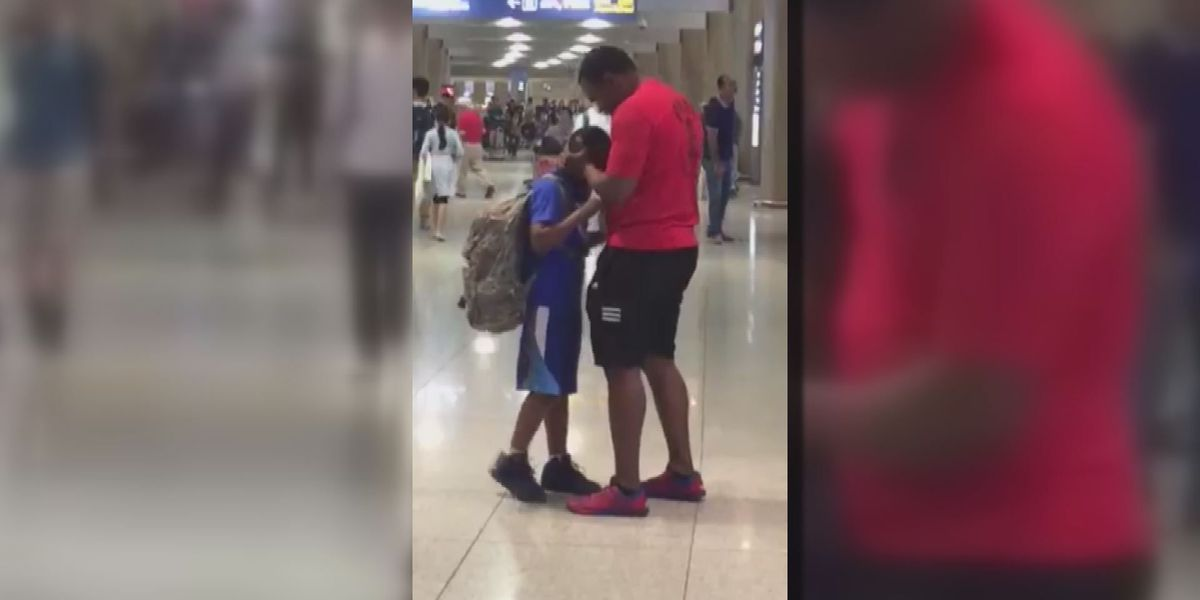 Biloxi student reunited with Air Force dad