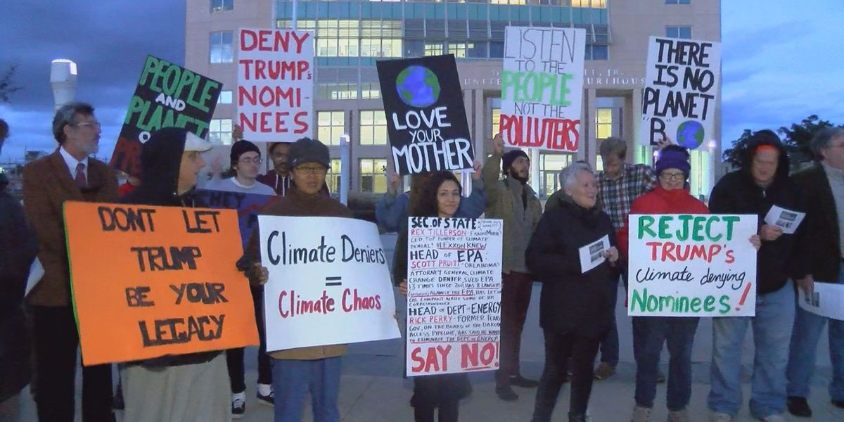 Gulfport protesters against Trump cabinet nominees