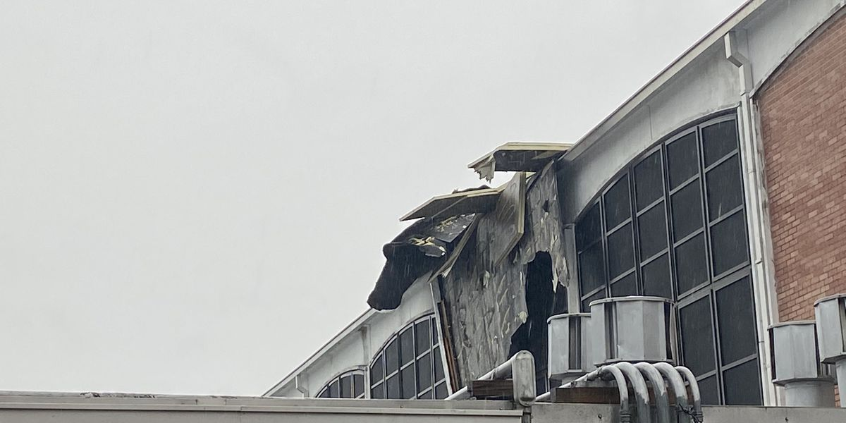 Damage reported at D'Iberville Middle School during stormy weather