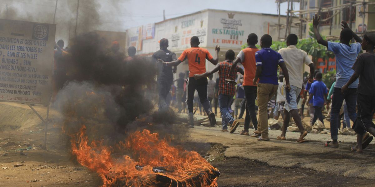 Protests as Congo leader warns of Ebola election 'disaster'