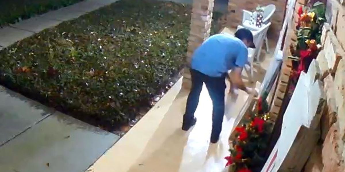 WATCH: Porch pirate snatches gifts from Gautier home