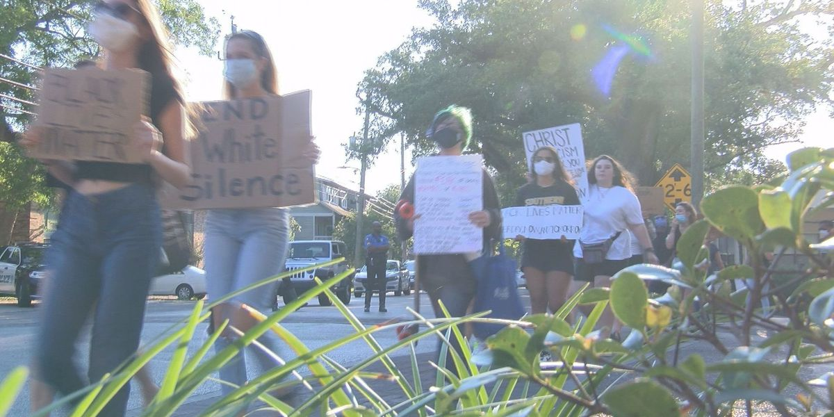 Unity March in Ocean Springs takes stand against racial injustice, state flag