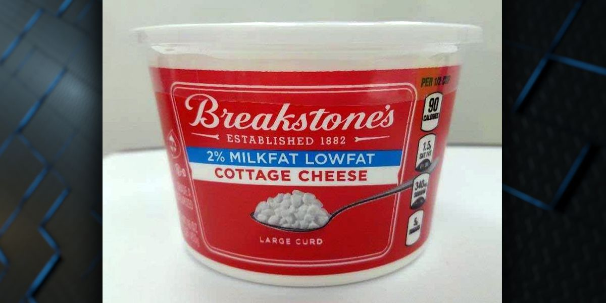 Cottage cheese recalled due to possible presence of red plastic, metal