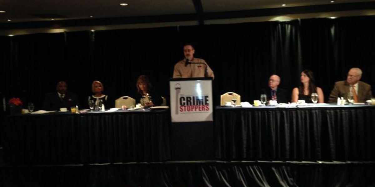 Talk turns to recent officer involved shootings at Crime Stoppers breakfast