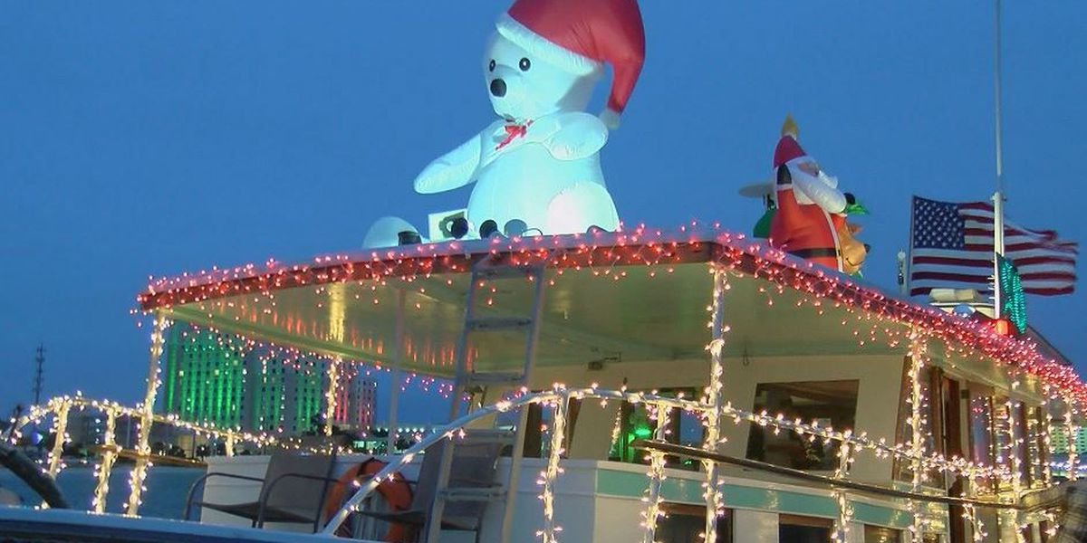Annual Christmas on the Water parade floats through Biloxi