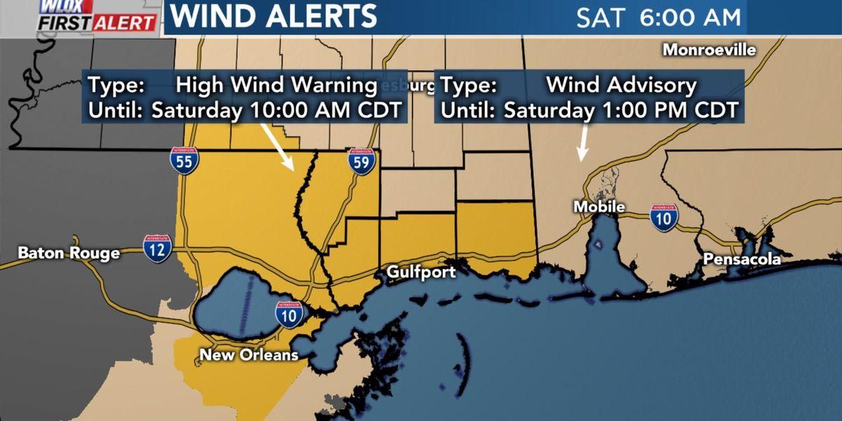 High Wind Warning canceled; Rain chances dropping