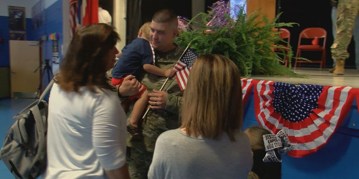 Soldiers share time with family before year-long deployment