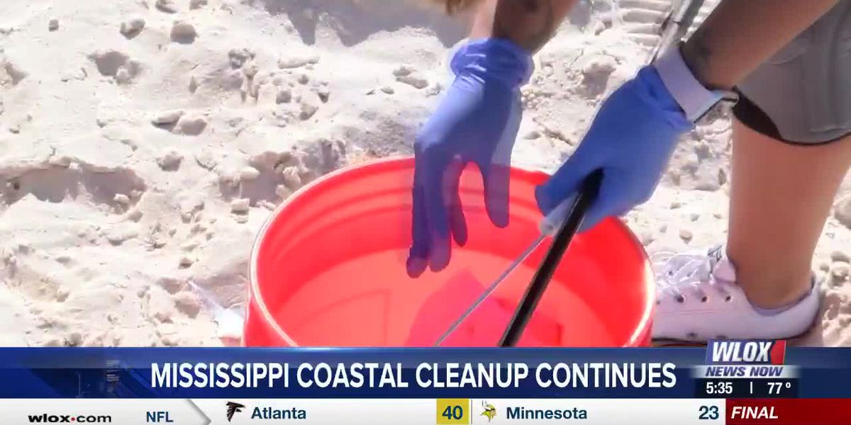 Mississippi Coastal Cleanup continues along the Gulf Coast