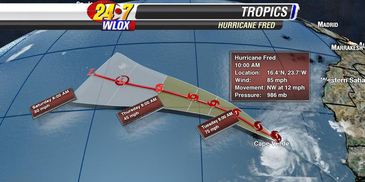 UPDATE: Fred now a hurricane aimed at Cape Verde Islands