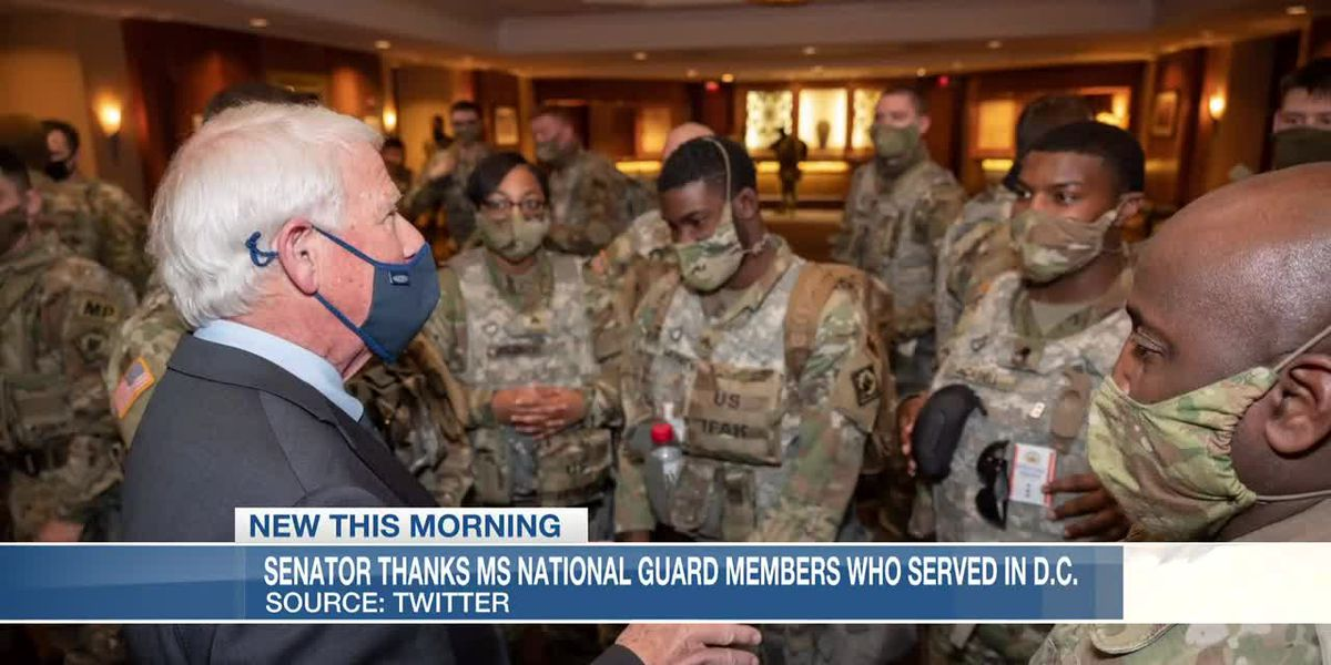 Sen. Wicker thanks Miss. National Guard members who served in D.C.
