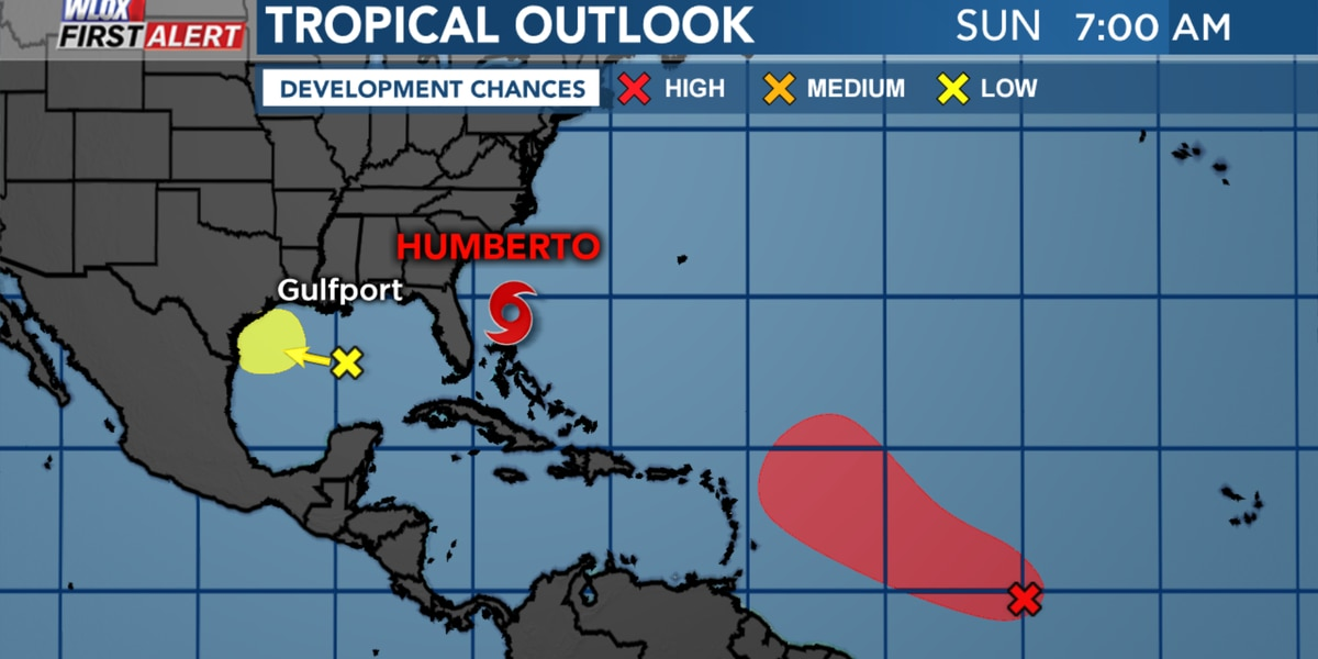 Humberto pulls away from Bahamas, watching other disturbances