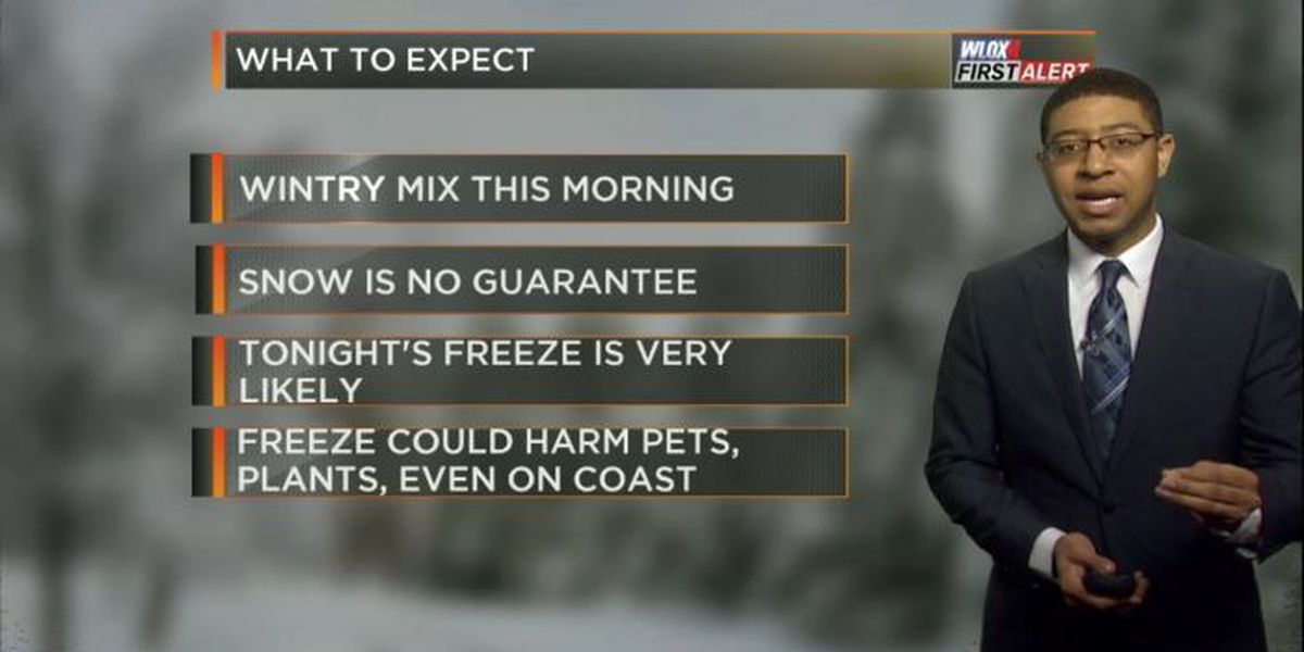 ALERT DAY: Wintry mix this morning; freeze very likely tonight in South MS