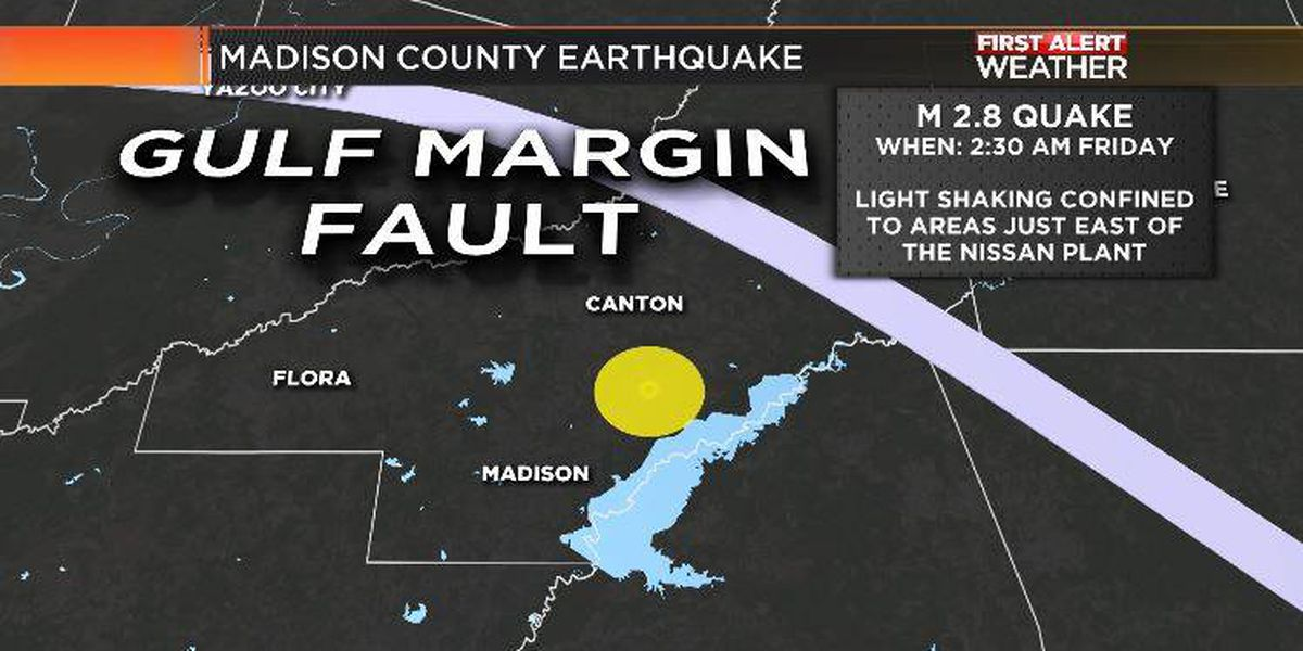 2.8 magnitude earthquake hits Madison County
