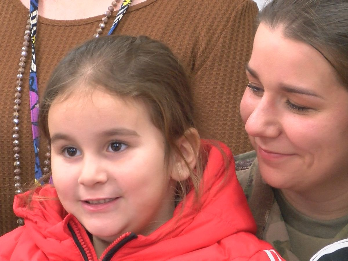 MS soldier surprises daughter after overseas deployment