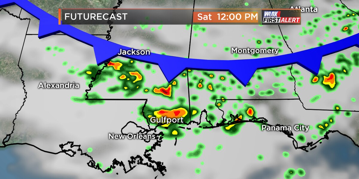 Strong storms possible Saturday ahead of cold front