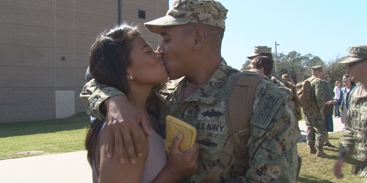 Gulfport Seabees greeted by loved ones after 7 month deployment