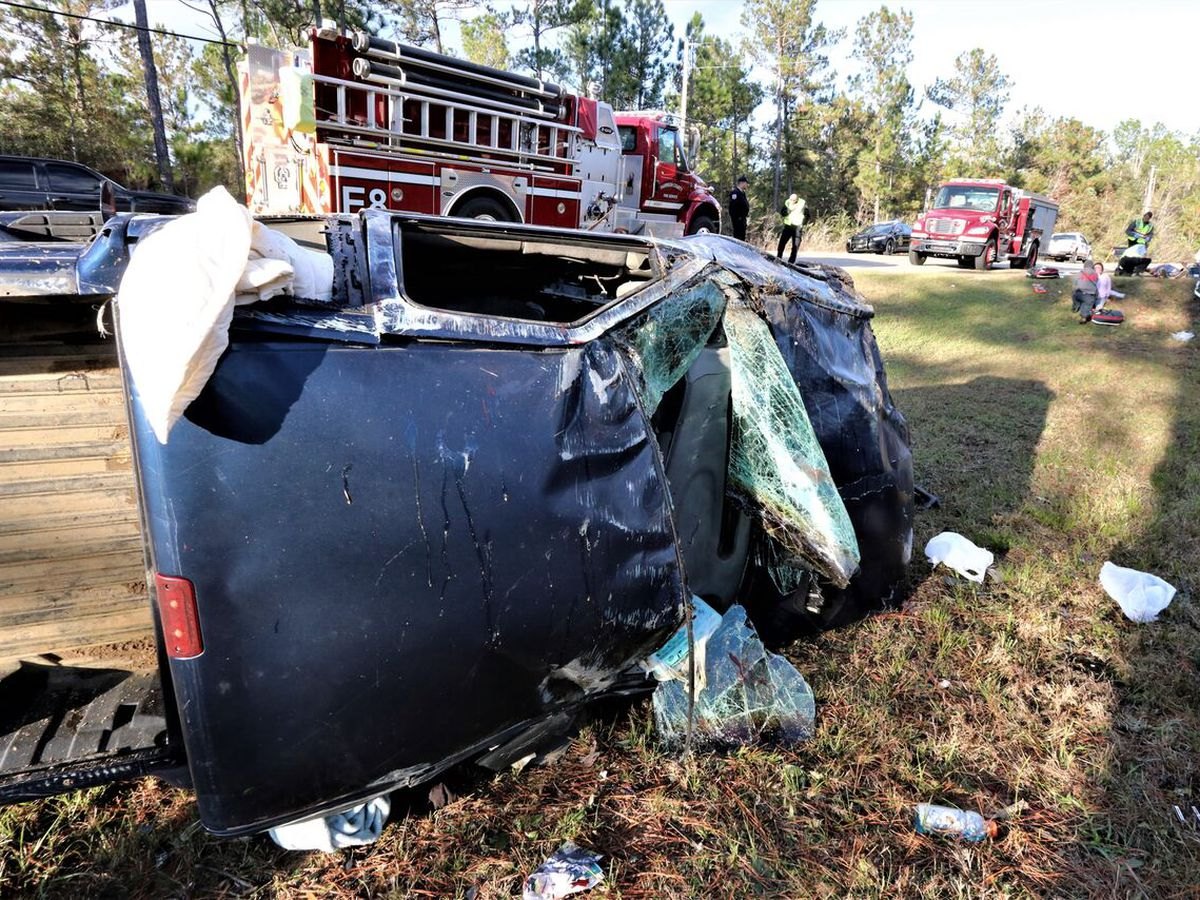 Driver loses control of truck on Wortham Rd in Saucier