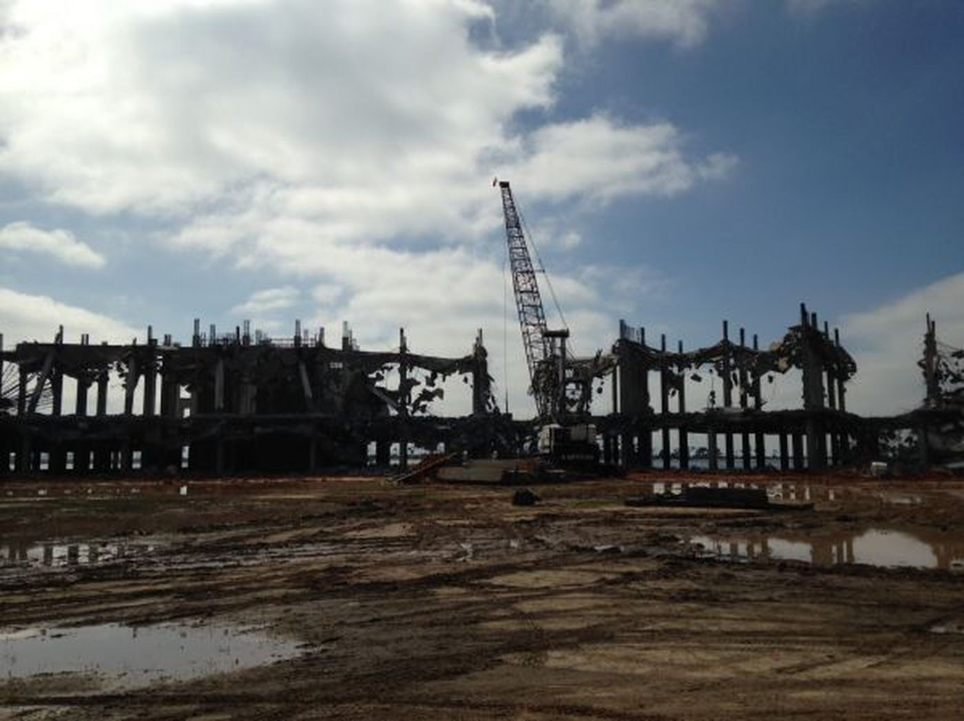 Demolition Of Old Margaritaville Site Going Smoothly