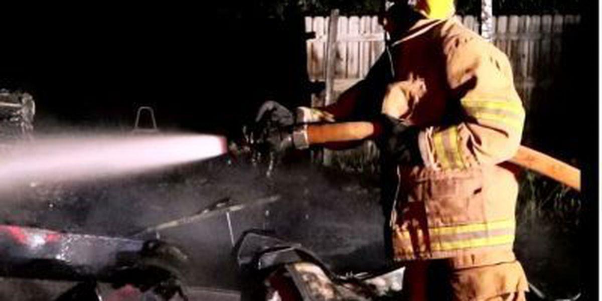 Camper trailer, boat catch fire in Saucier