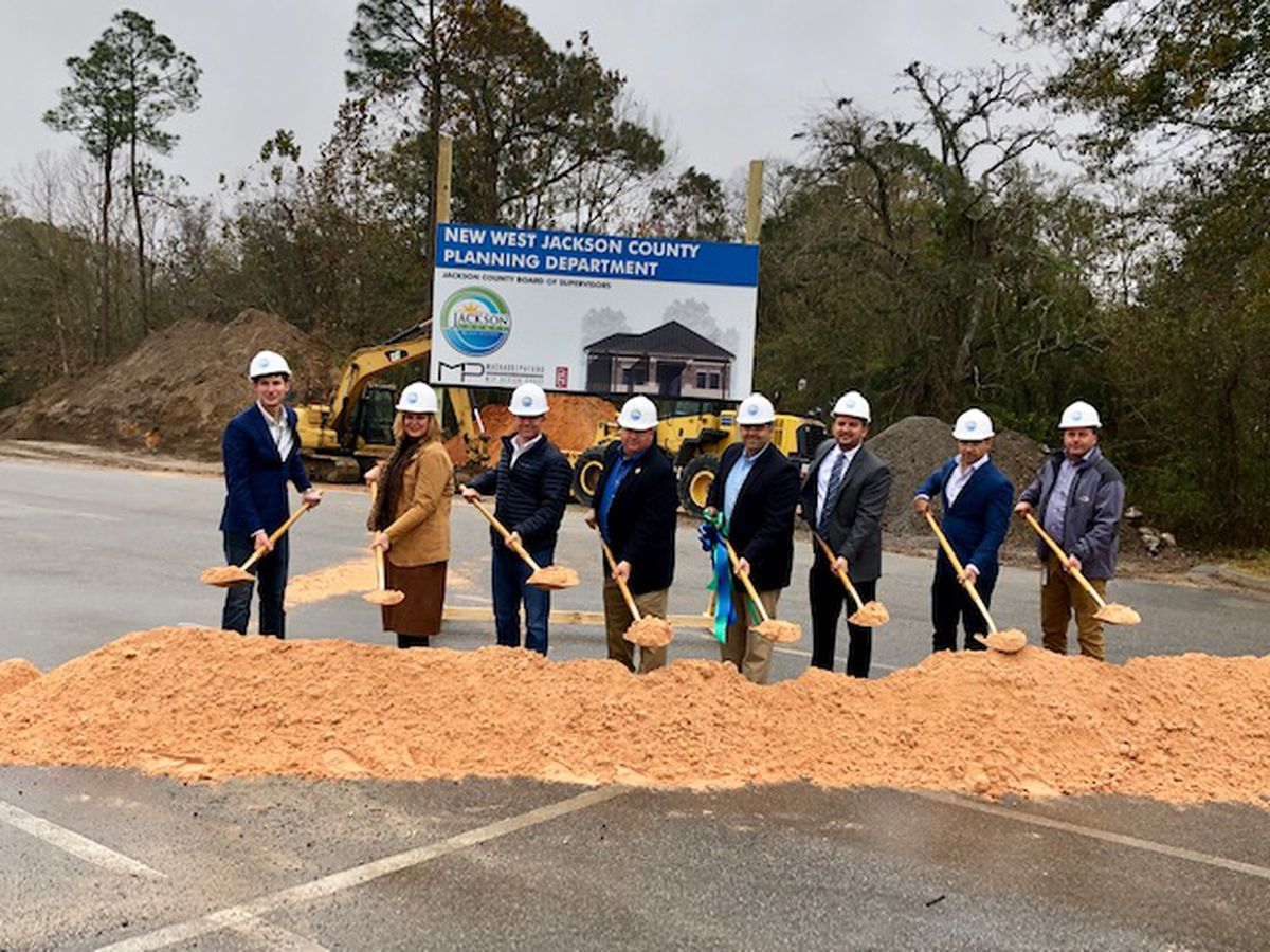Jackson County officials break ground on new planning department in Ocean Springs