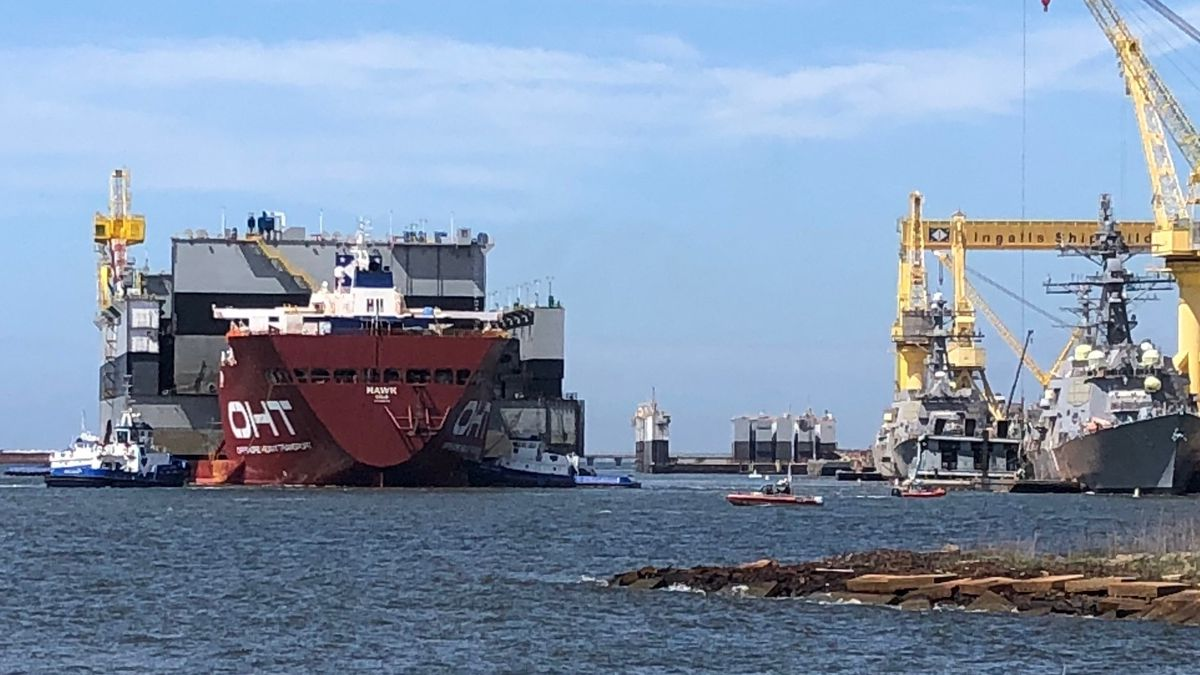 Nh Gas Prices >> Ingalls releases statement after dry dock collides with work barge