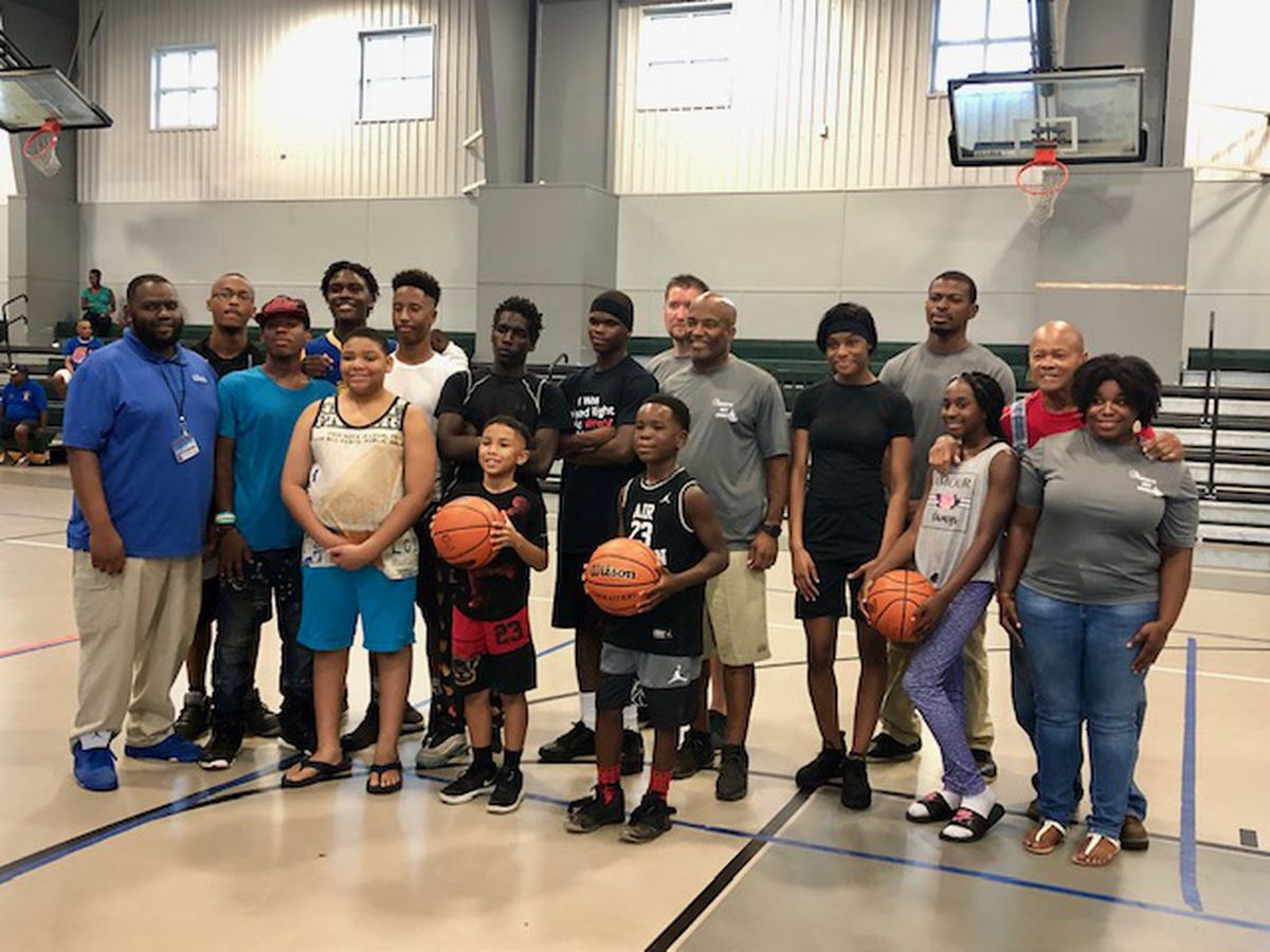Kids show their skills on the court for 'Blue Crew' competition