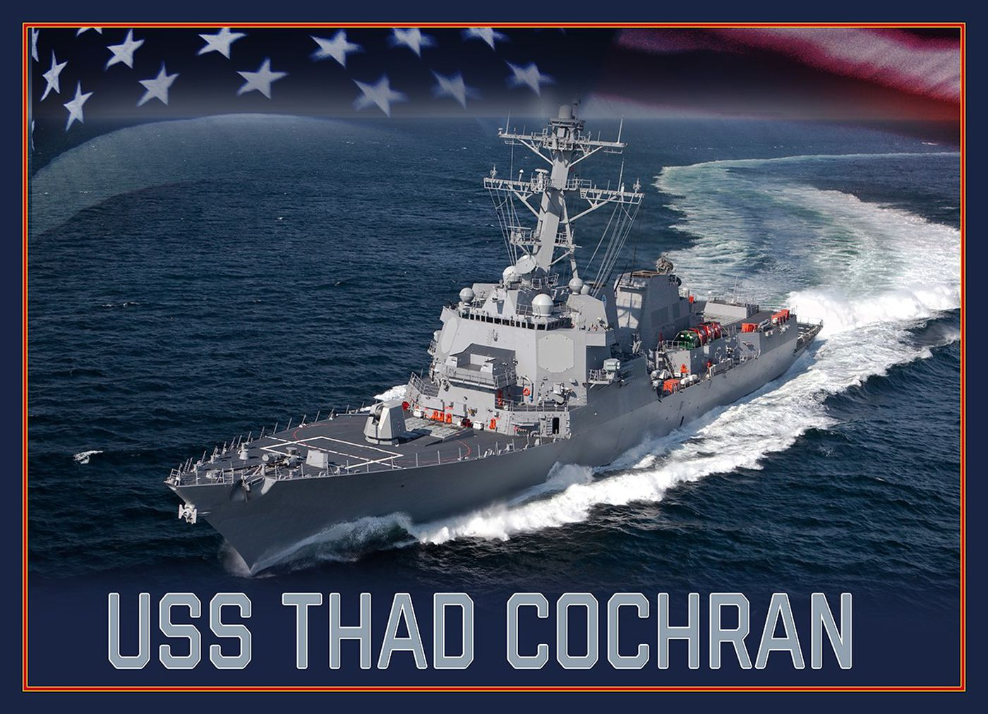 A future Arleigh Burke-class guided-missile destroyer will be named in honor U.S. Sen. Thad Cochran.