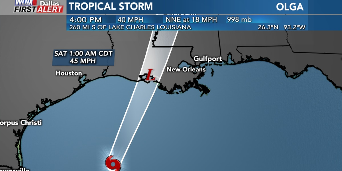 Tropical Storm Olga to merge with cold front, bring flood, tornado risk to South MS