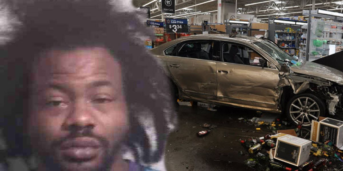 Police: Recently-fired employee crashed through front doors, drove inside Walmart in Concord, N.C.