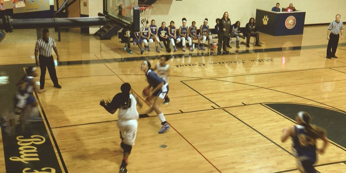 Daphane White of St. Martin is a dominating force inside the paint
