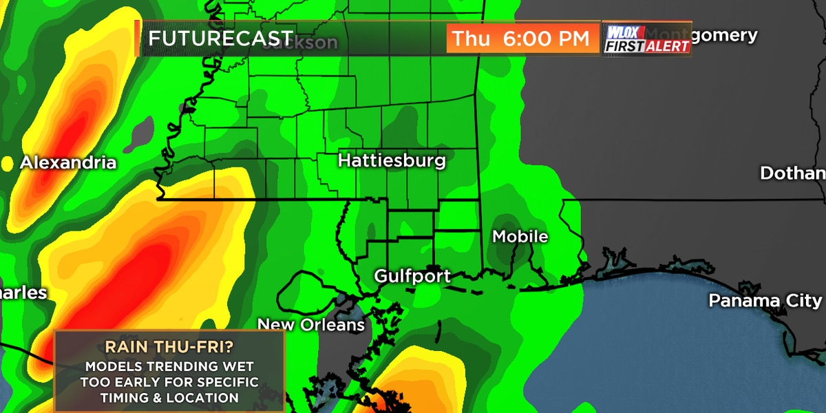 Models trending wetter later this week
