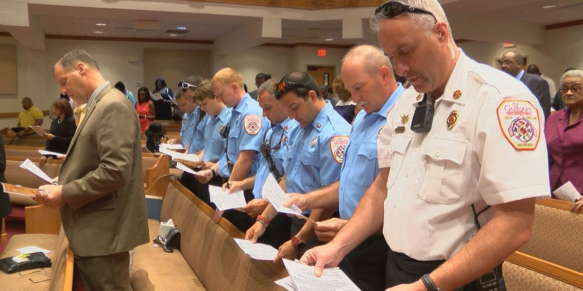 Gulfport church honors first responders