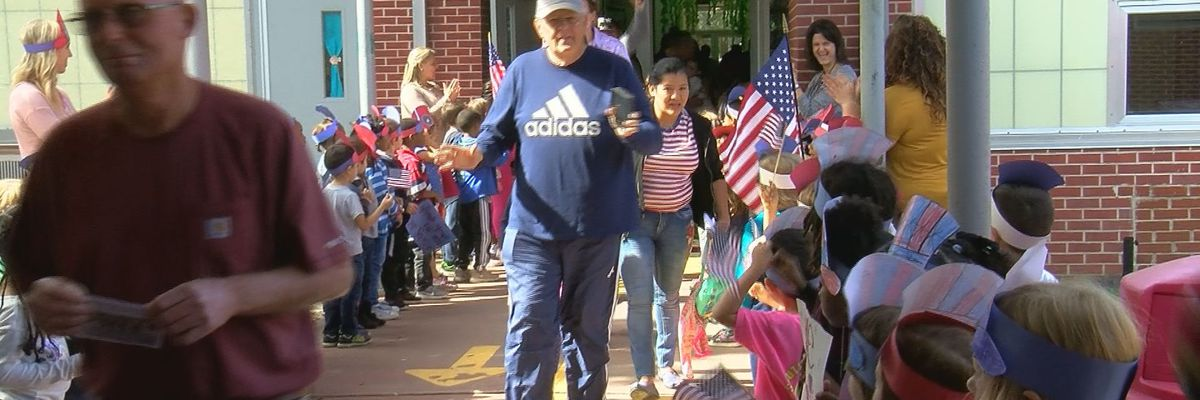 Children across the coast honor veterans with songs, cheers and more