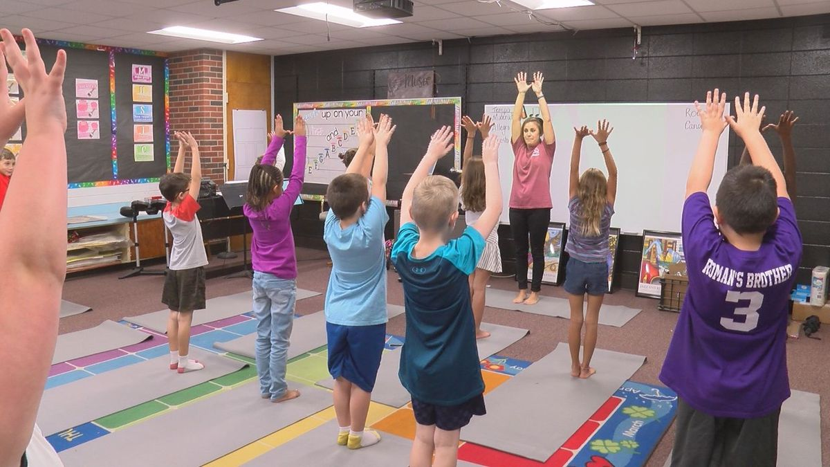 South Mississippi Strong: Long Beach students use yoga to relax, stay calm