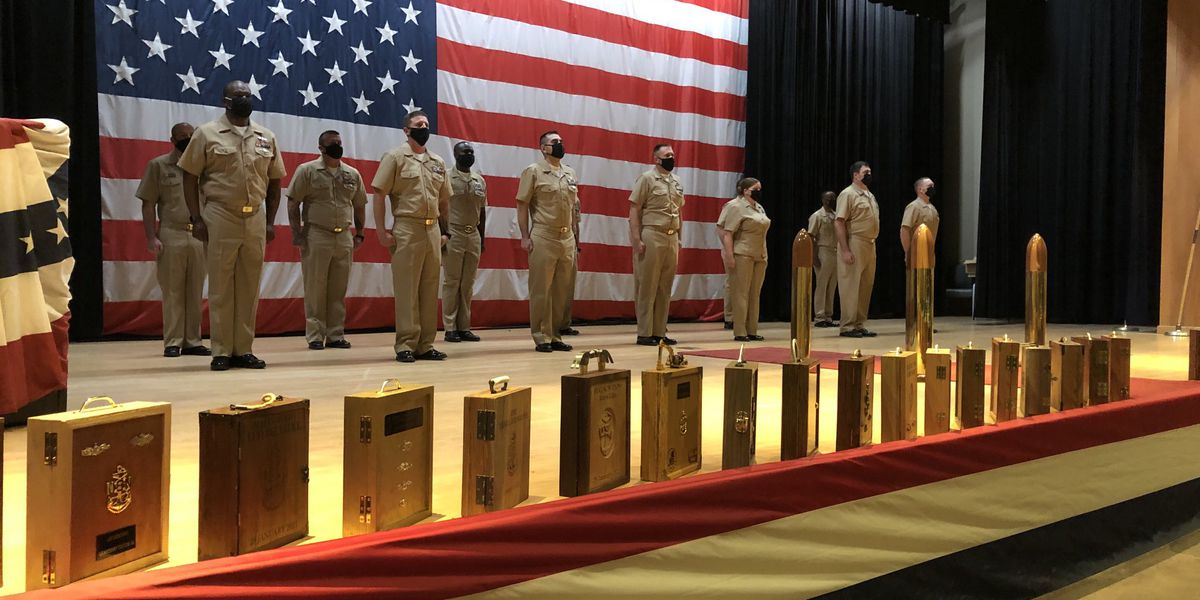 Anchors aweigh for newly pinned US Navy Chief Petty Officers