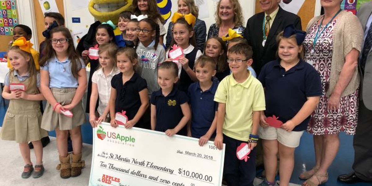 Apple Association gives $10k to promote healthy eating at St. Martin North