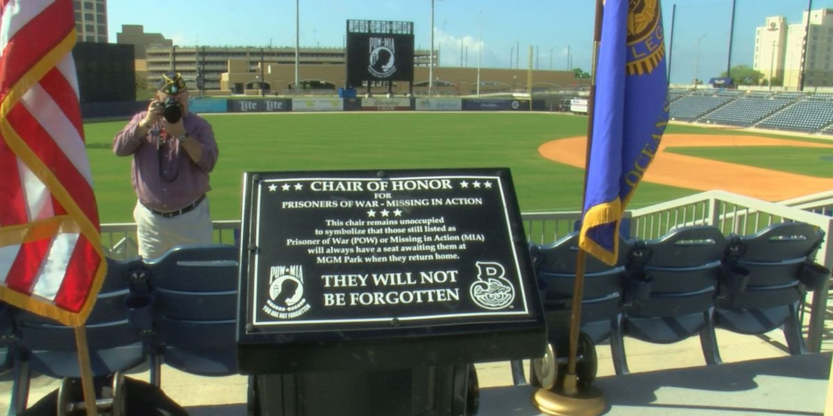 A new seat honors missing soldiers at MGM Park