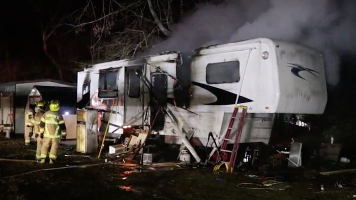 Man injured after space heater leads to trailer fire in Harrison County