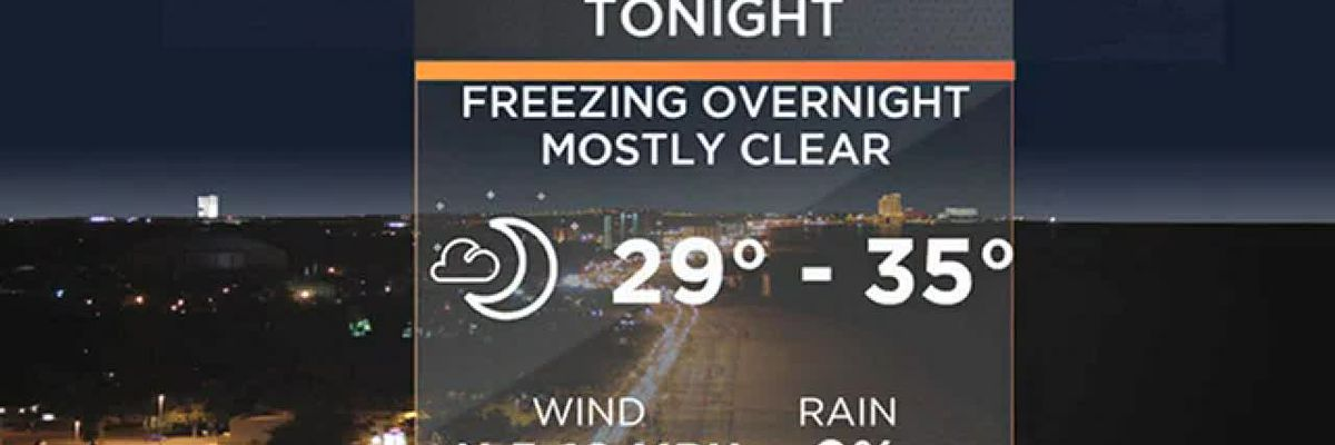 FORECAST VIDEO: 2019's first freeze tonight? Here's what to expect.