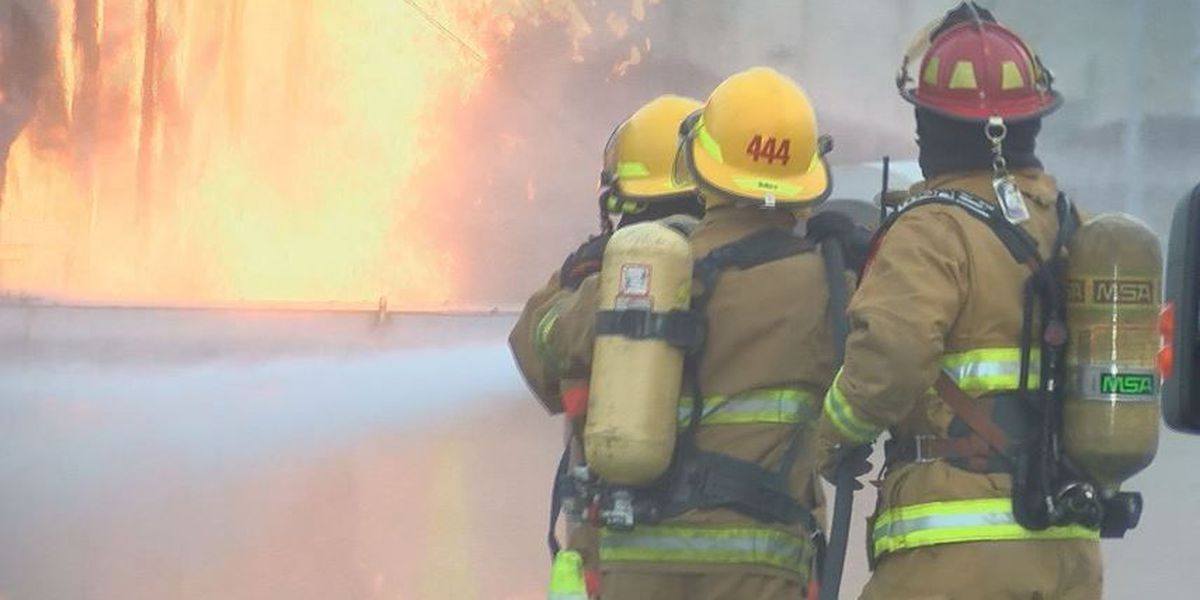 Firefighters train up close on how to fight airplane crash fires