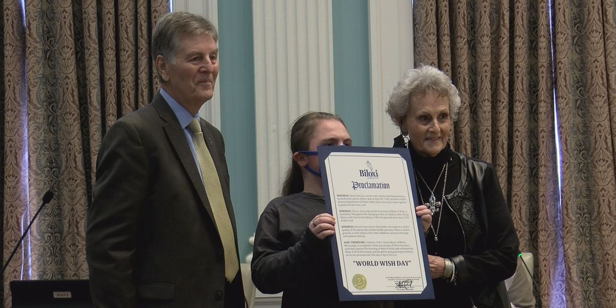 Biloxi honors Make-A-Wish with proclamation of World Wish Day