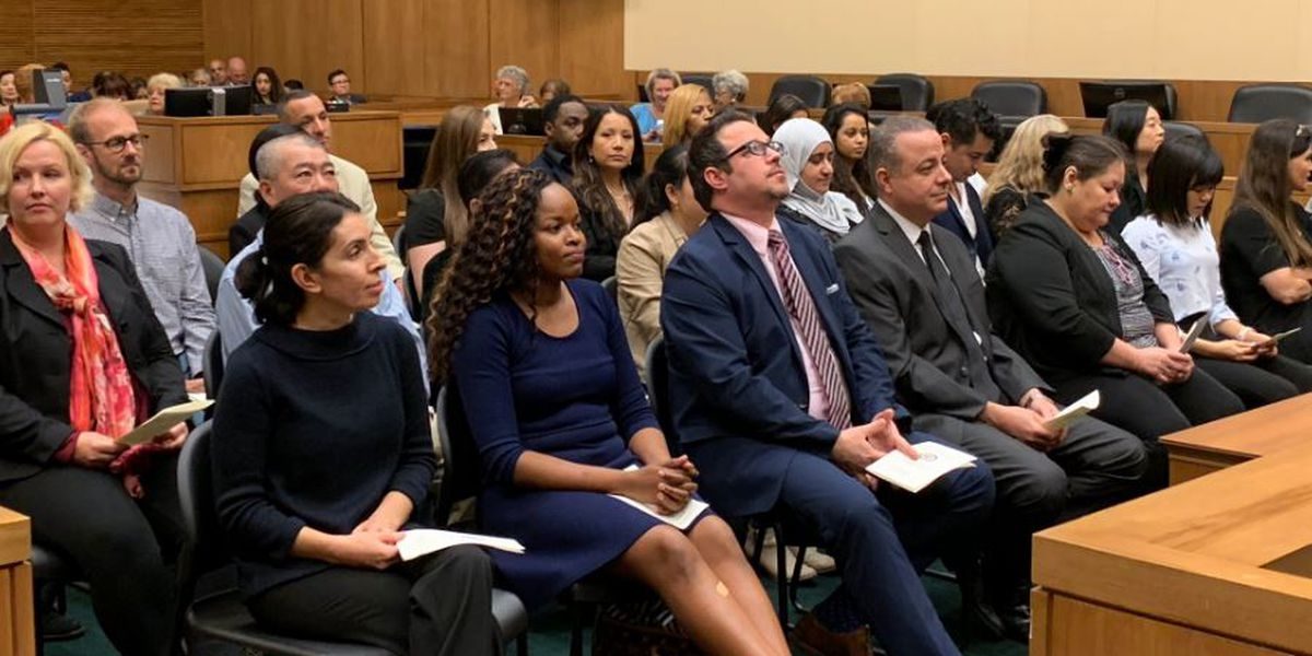 Gulfport welcomes 32 new U.S. citizens in naturalization ceremony