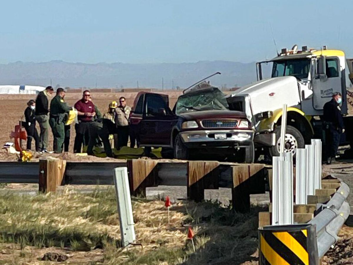 Police: Semitruck in Calif. crashes with SUV carrying 25, killing 13