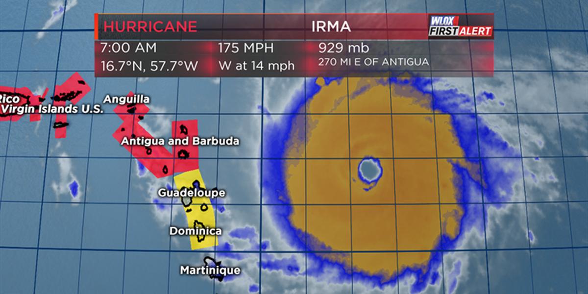 Irma reaches category five strength, highest category