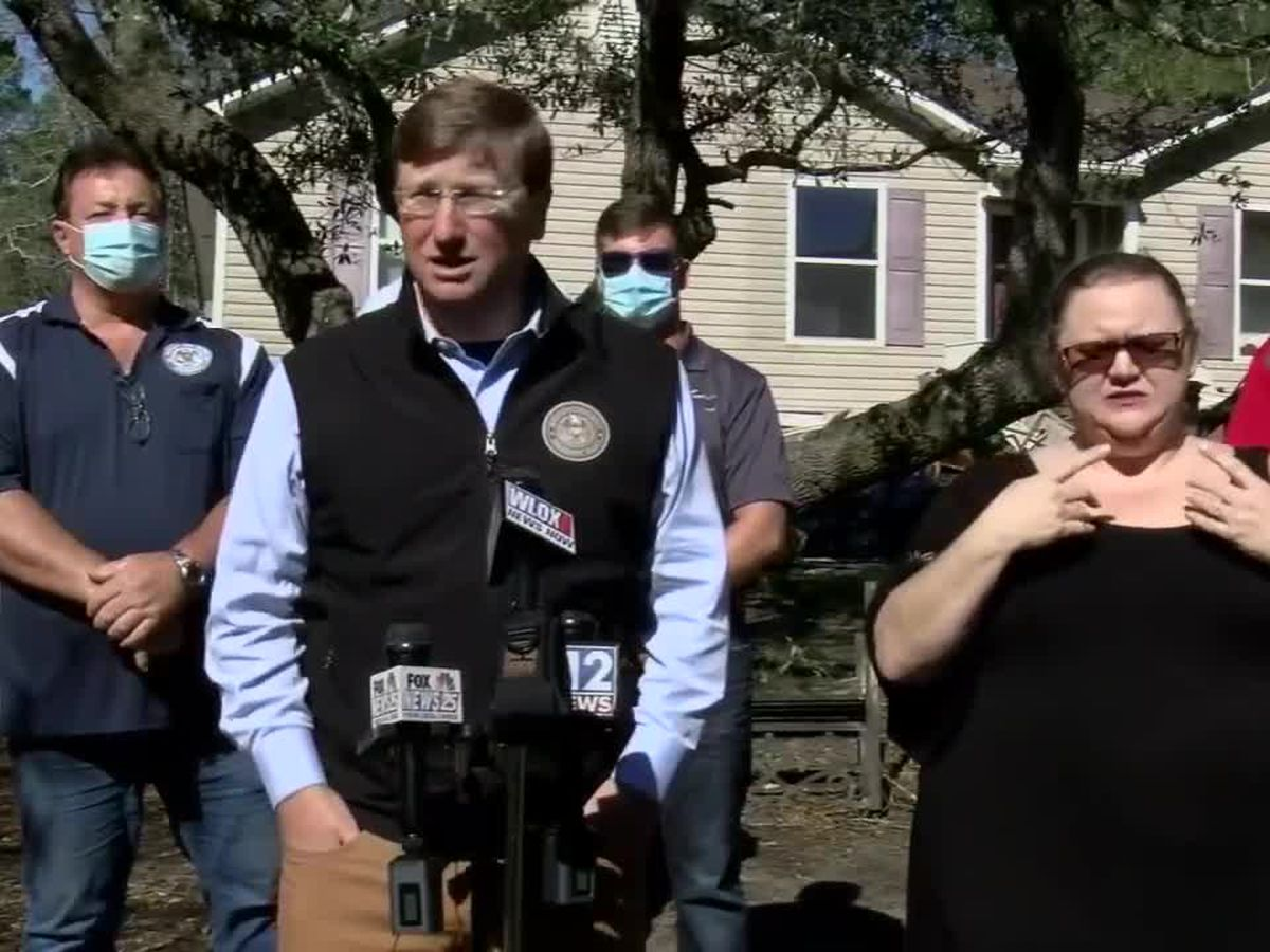 Gov. Reeves tours Zeta damage in South Mississippi, thanks first responders