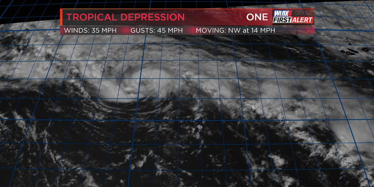 Tropical Depression One forms in the Atlantic