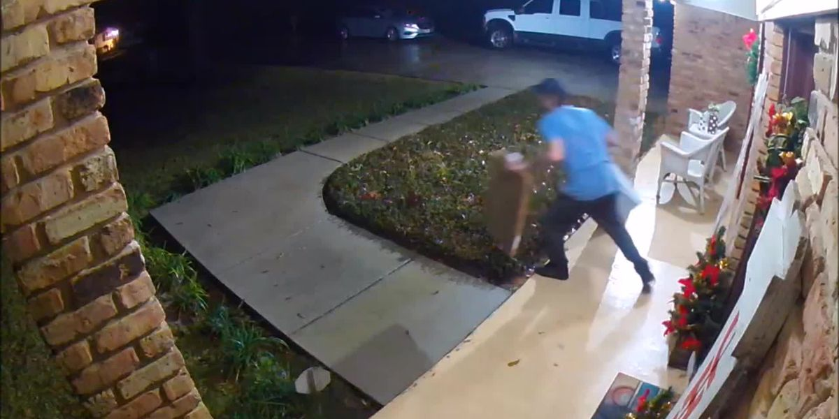 SURVEILLANCE VIDEO: Porch pirate strikes in Gautier