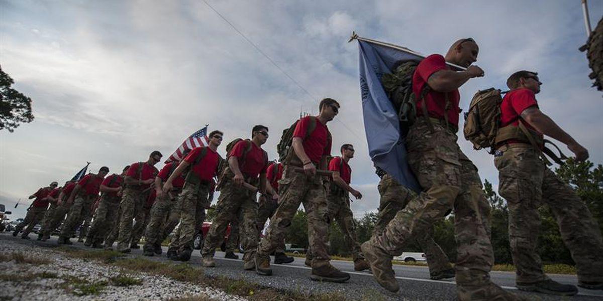 Special Tactics Airmen ruck to pass through Biloxi Friday