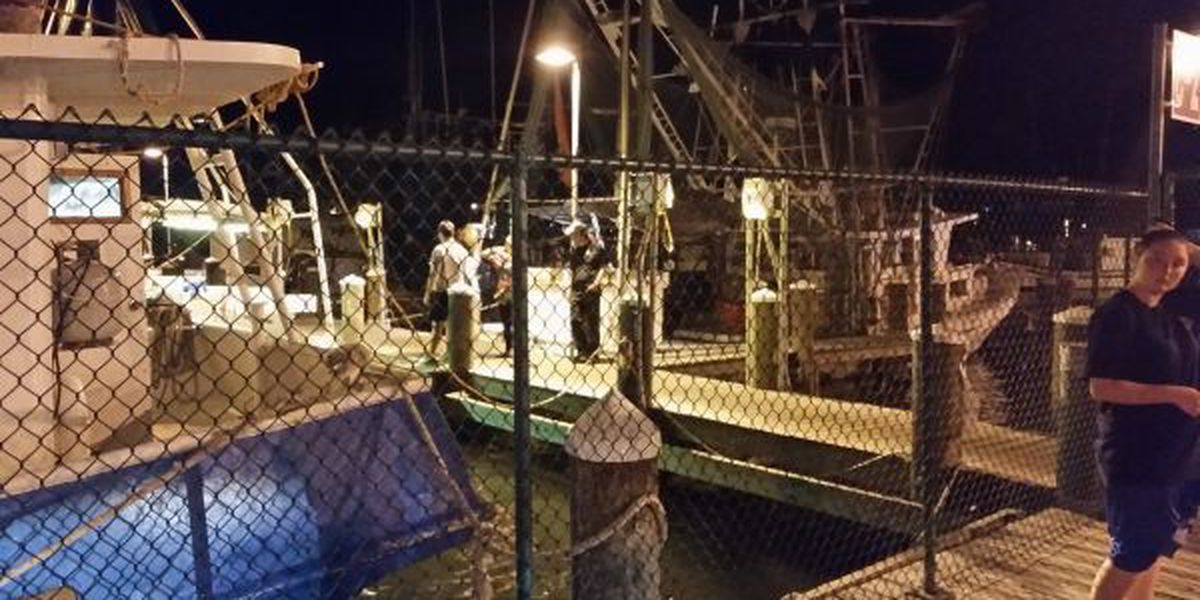 Shrimper falls overboard, swims to shore